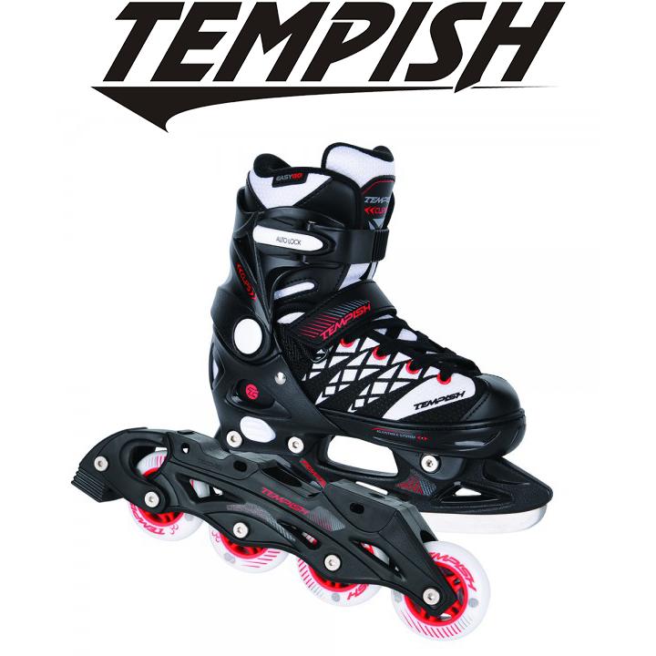 Детские раздвижные роликовые/ледовые коньки Tempish Clips Duo 2в1