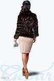 Теплый женский жакет, выполненный из мягкого эко-меха 14215Ш, фото 3