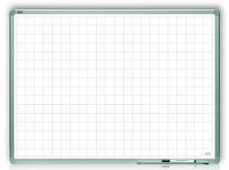 Доска магнитная маркерная в клетку 2x3 алюминиевая рамка 90 х 60 см лакированная поверхность