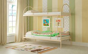 Двухъярусная Металлическая кровать Сеона 80х190 см. Мадера