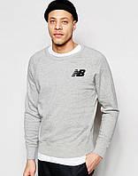 Свитшот New Balance FX72503 Серый Утепленный світшот чоловічий нью беленс M
