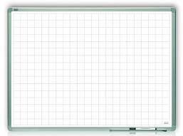 Доска магнитная маркерная в клетку 2x3 алюминиевая рамка 120 х 90 см лакированная поверхность