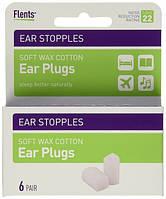 Восковые беруши для сна Flents Ear Stopples (6 пар), США.