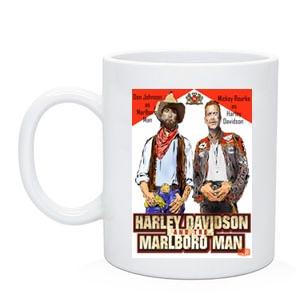 """Байкерская чашка """"Ковбой Мальборо и Харлей Девидсон"""""""