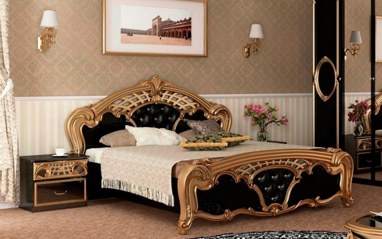 Кровать Реджина Черная с механизмом 160х200 см. МироМарк