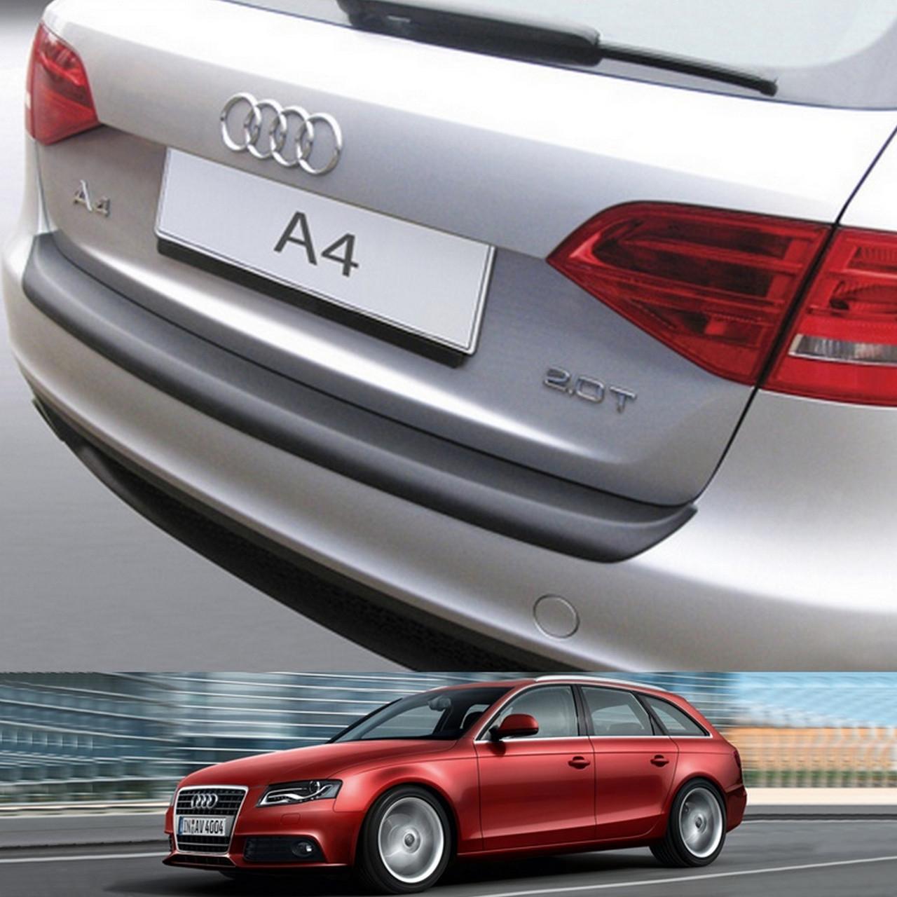 Пластиковая защитная накладка на задний бампер для Audi A4 Avant 2008-2012