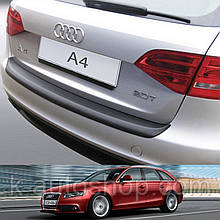 Пластикова захисна накладка на задній бампер для Audi A4 Avant 2008-2012