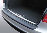 Пластиковая защитная накладка на задний бампер для Audi A4 Avant 2008-2012, фото 2