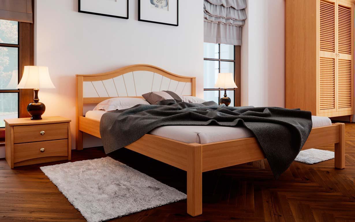 Деревянная кровать Италия-М 140х190 см. ЧДК