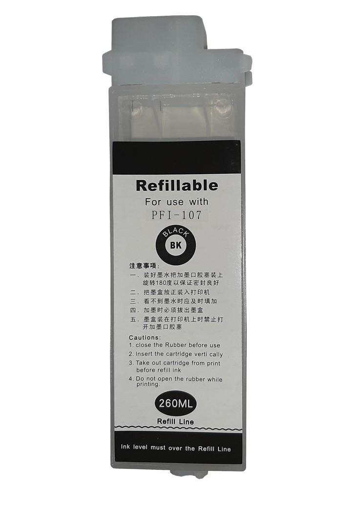 Перезаправляемый картридж Ocbestjet тип F4 для плоттеров Canon iPF670/iPF770 с чипом PFI-107 Black (260 мл)