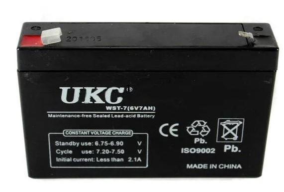 Аккумулятор батарея UKC WST-7 6V 7Ah