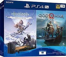Sony Playstation 4 1TB Pro + игра God of War & Horizon Zero Dawn CE