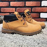 Зимние ботинки мужские в стиле CAT песочные