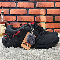 Зимние ботинки мужские в стиле Adidas Terrex черные