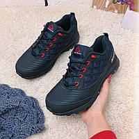 Зимние кроссовки женские в стиле Reebok Sport Termo темно-синие