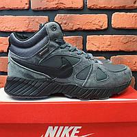 Мужские зимние ботинки в стиле Nike Air Max серые