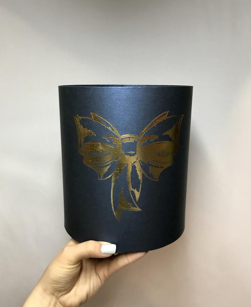 Коробка средняя круглая высокая без крышки (тис)