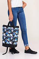 Спортивно-городская сумка рюкзак с принтом