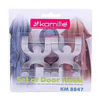 Набір гачків на двері з нержавіючої сталі KM-8847, фото 1