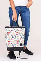 """Спортивно-городская сумка рюкзак с принтом """"Птички"""""""