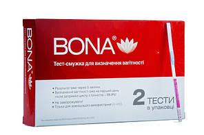 """Тест-смужка для визначення вагітності, тест на вагітність """"BONA"""", 2 шт / уп BONA"""