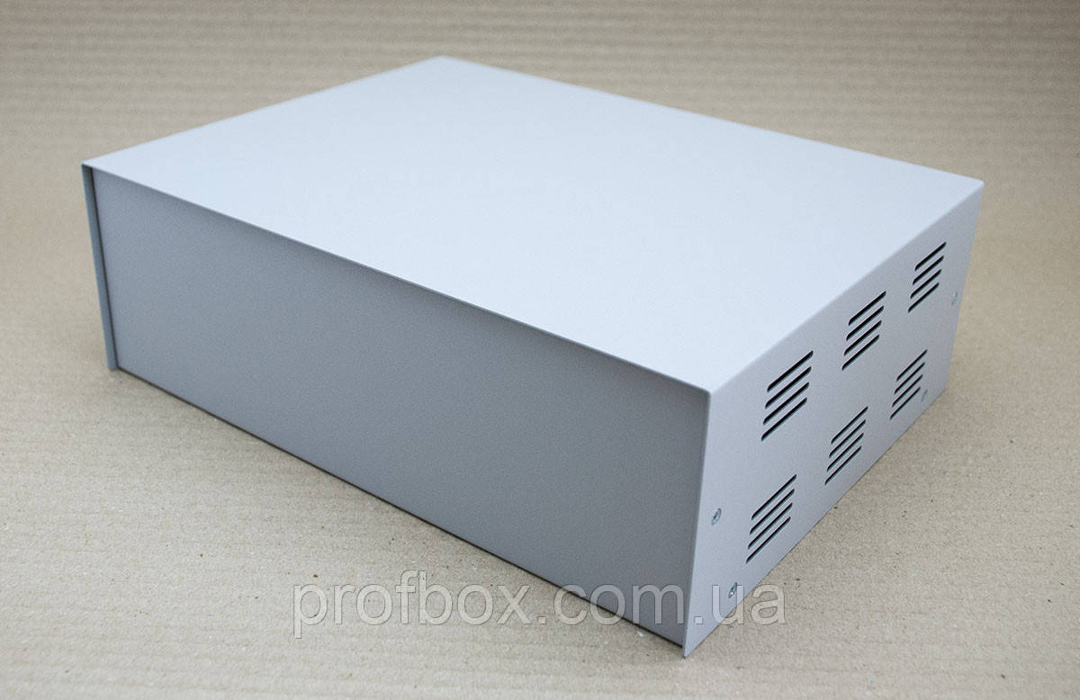 Корпус металевий MB-40 (Ш304 Г230 В100) металік, RAL9006(Metallic textured)
