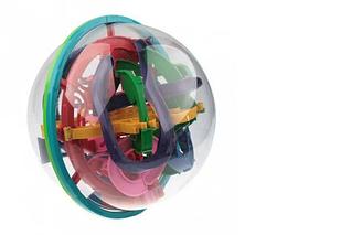 3D шар лабиринт головоломка 118 ходов развивающая игрушка