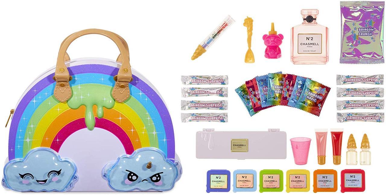 Сумка для создания слаймов Пупси Слайм Радуга с сюрпризами Poopsie Rainbow Slime Kit with 35+ Makeup