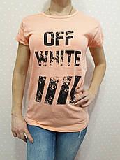 """Футболка женская хлопковая """"OFF-WHITE"""" реплика Турция размер S,M,L (от 3 шт), фото 2"""