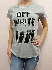 """Футболка женская хлопковая """"OFF-WHITE"""" реплика Турция размер S,M,L (от 3 шт), фото 3"""