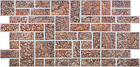 Панель ПВХ Регул Кирпич пиленный коричневый 0,4х496х986мм
