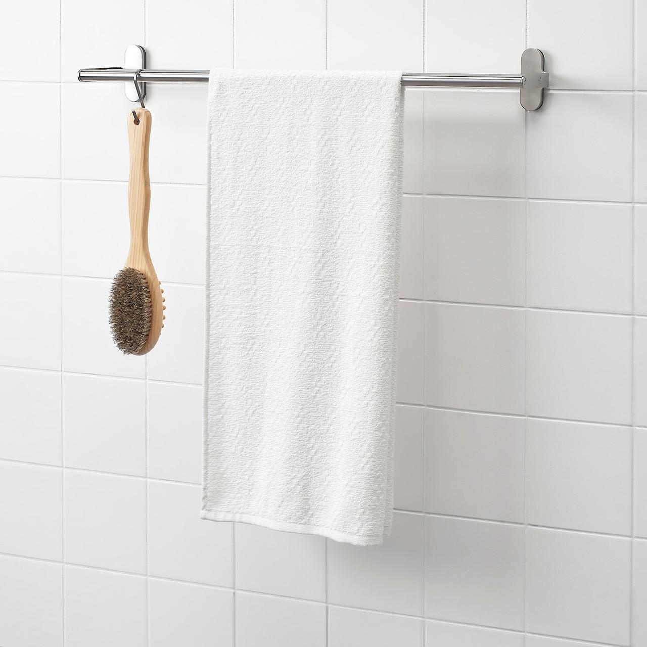 Банное полотенце IKEA NÄRSEN  белый, 55x120 см 904.473.55
