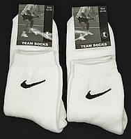 """Мужские махровые носки """"TEAM SOCKS"""". Р-р 42-45. Белый цвет."""