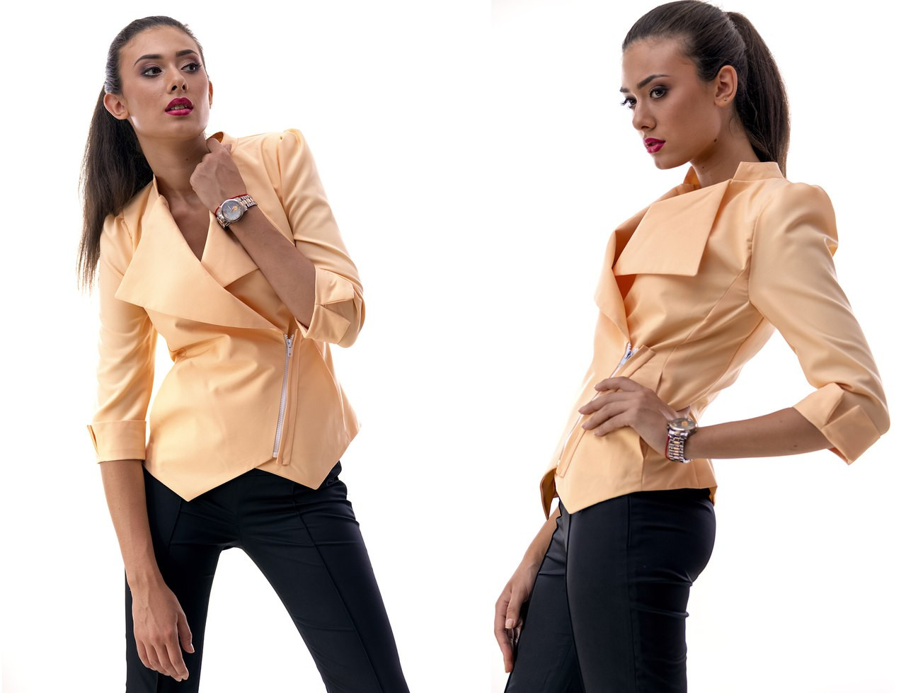 Стильный пиджак с коротким рукавом