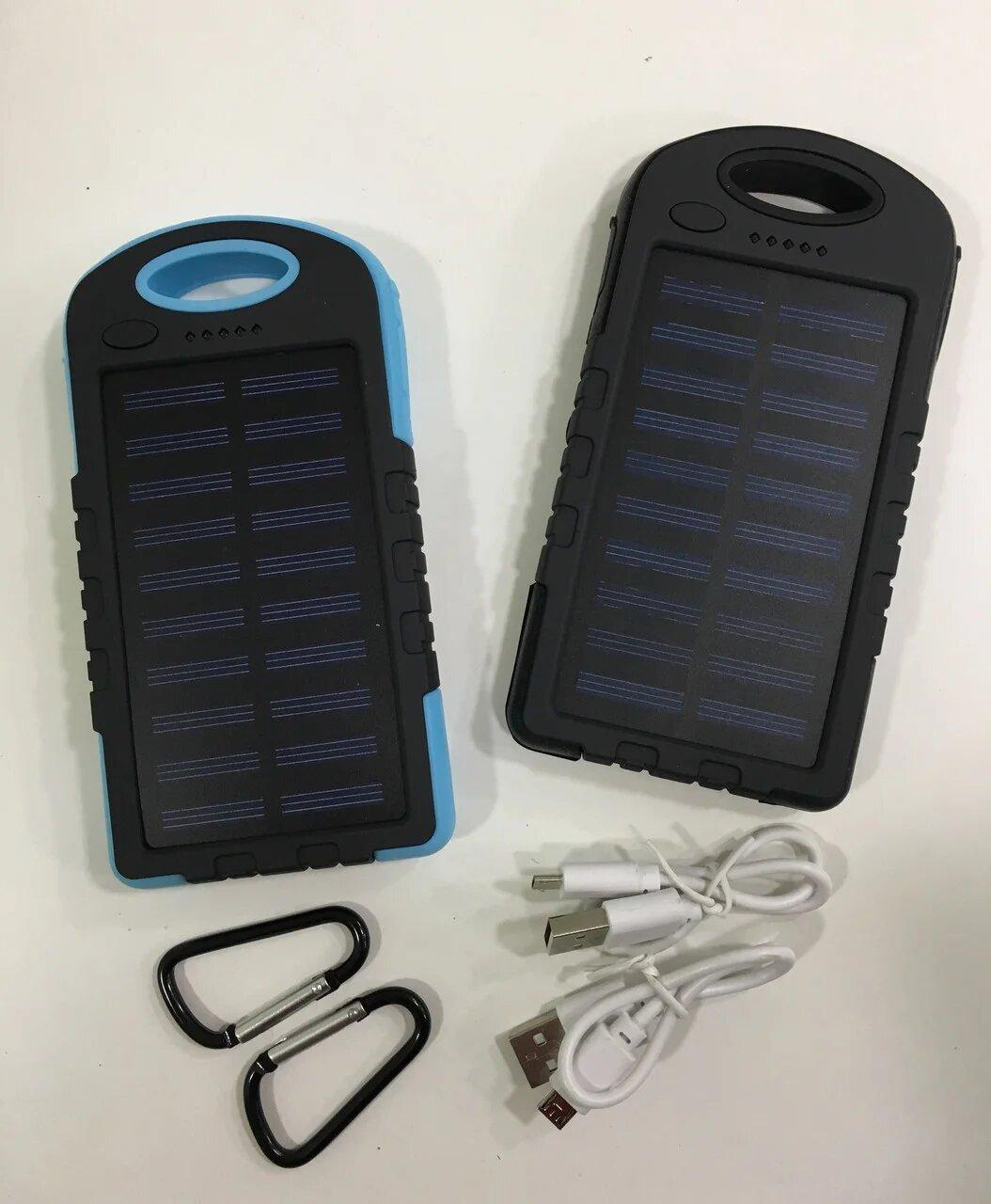 Солнечная батарея Power Bank A50 20800 mAh (Повер банк, мобильная зарядка), фото 2