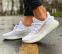 Женские кроссовки в стиле Adidas Yeezy Boost 350 V2 белые демисезонные