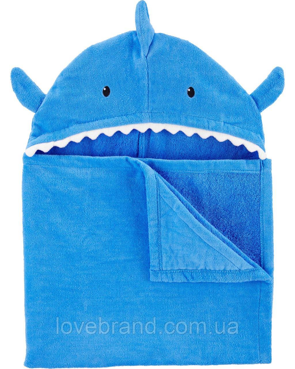 """Большое пляжное полотенце Carter's (США) """"Акула/кит"""" детское пляжное полотенце уголок 69*127 см"""