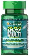 Витаминно-минеральный комплекс Puritan's Pride - ABC Plus Senior Multi (60 таблеток)
