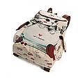 """Городской рюкзак """"Котенок в чашке"""" гобелен бежевый текстиль молодежный оригинальный средний  стильный ранец, фото 2"""