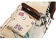 """Городской рюкзак """"Котенок в чашке"""" гобелен бежевый текстиль молодежный оригинальный средний  стильный ранец, фото 5"""