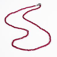 Намисто шнурок з червоної шпінелі, Ø2,0 мм., 722БСШ, фото 1