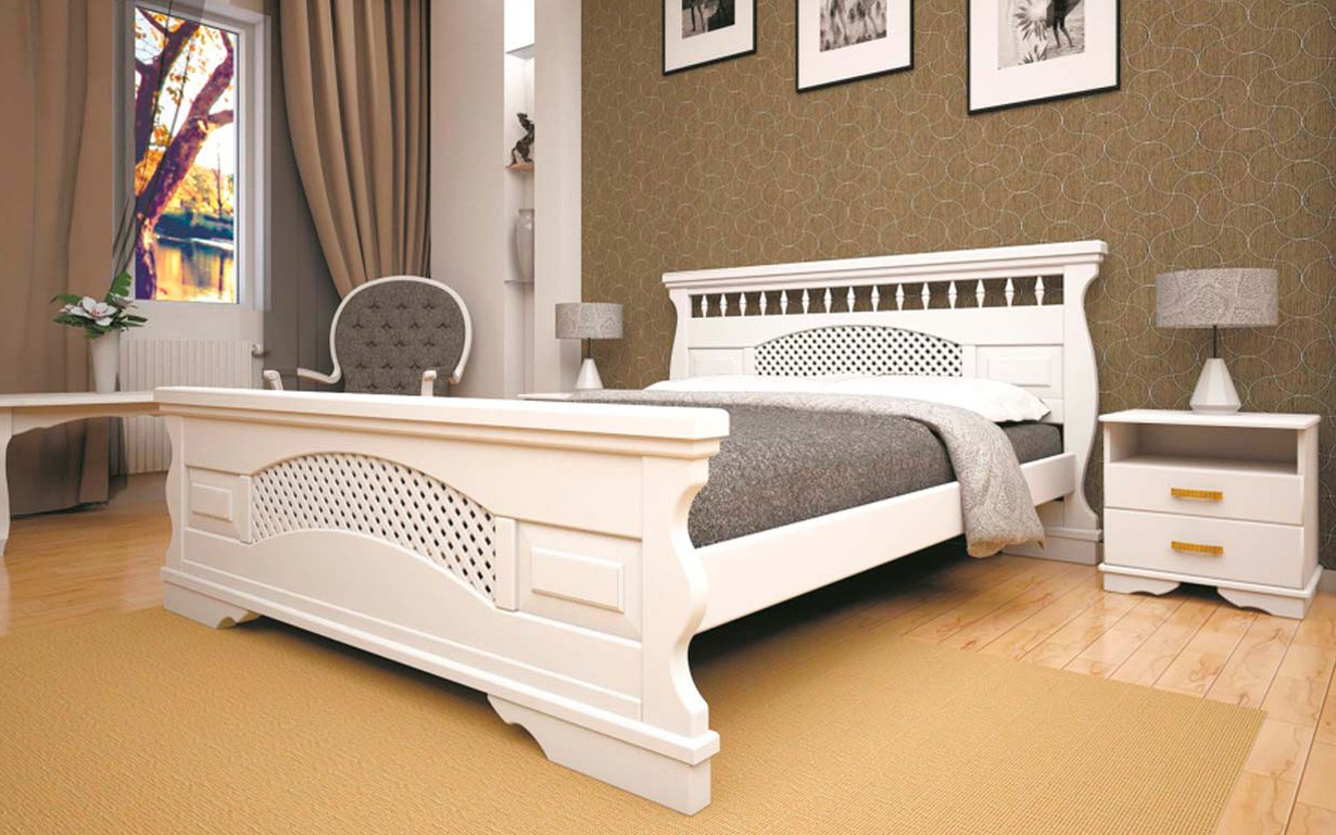 Кровать Атлант 23 90х190 см. Тис