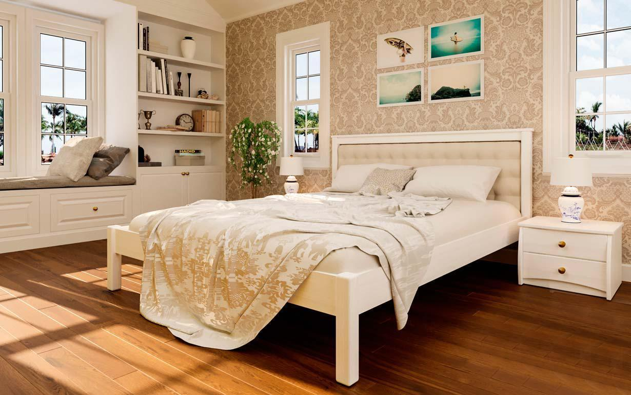 Деревянная кровать Модерн-М 140х190 см. ЧДК