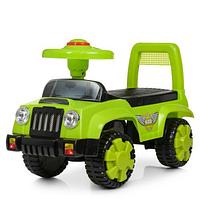 Каталка-толокар детская Q 11-1-5 музыкальный,зеленого цвета.