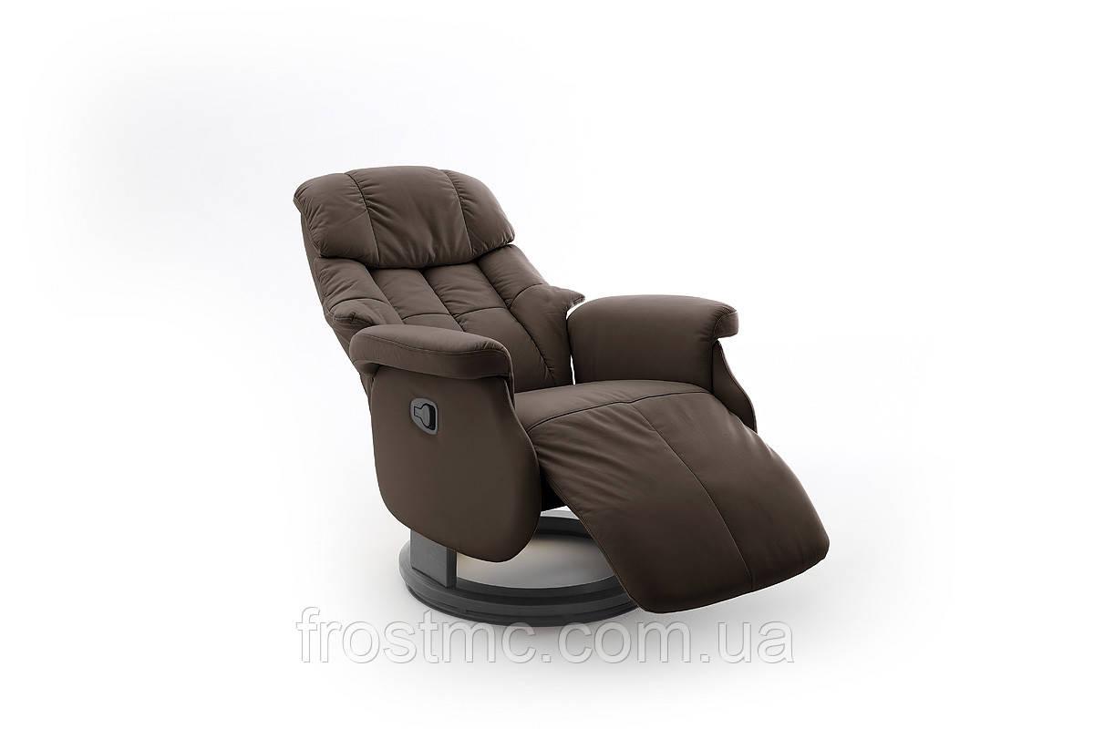 Комфортне крісло-реклайнер Relax Calgar L Chair Brown стелаж Чорний.