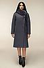 Зимове пальто з натуральним хутряним коміром, з 44 по 54 розмір