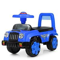 Каталка-толокар детский Q 11-1-4 музыкальный,синего цвета.