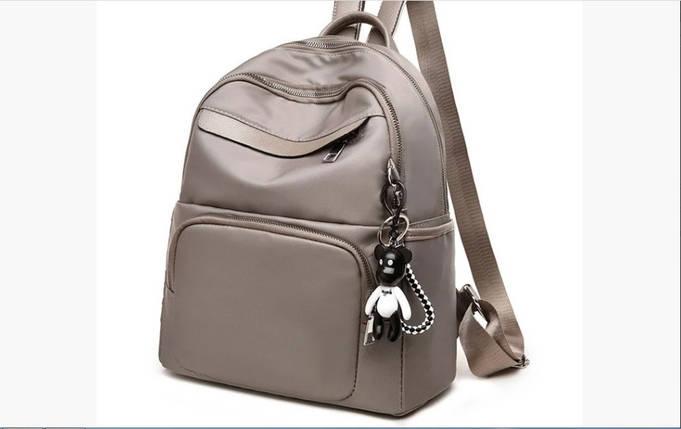 Рюкзак міський жіночий. Модні рюкзаки. Чорний, синій, бежевий колір., фото 2
