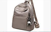 Городской рюкзак женский. Модные рюкзаки. Черный, синий и бежевый цвет.