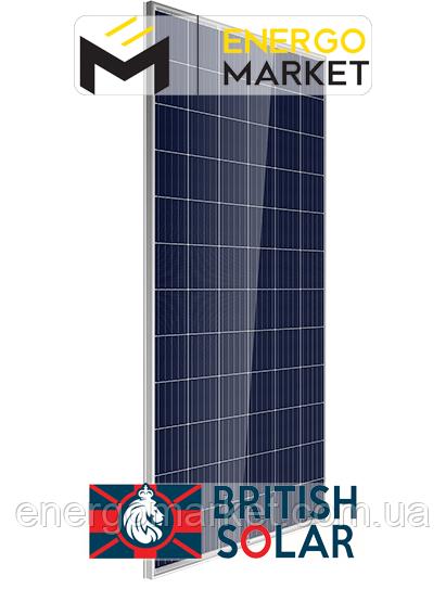 Поликристаллическая солнечная батарея British Solar 335P (335 Вт, 5 BB)